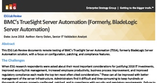 Validação da ESG Lab do TrueSight Server Automation